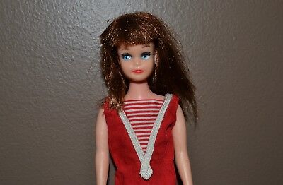 Vintage Barbie - HTF Skipper Clone by Davtex - Rooted Lashes, Red White SS, TLC