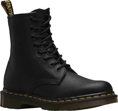 NEW Mens Dr Martens 1460 8 Eye Black Greasy Smooth Leather Lace Up Boots GENUINE