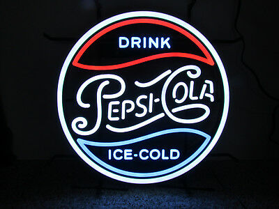 """Official Drink Pepsi Cola LED Neon Style Light Zeon Made USA 19"""" New in Box Soda"""