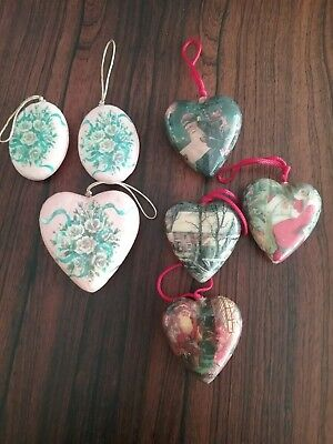 Vintage paper mache christmas ornaments
