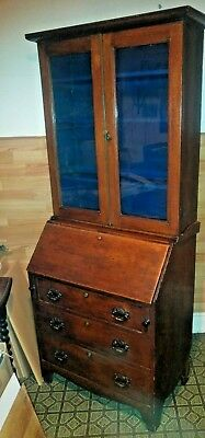 Antique Georgian Oak Bureau Cabinet