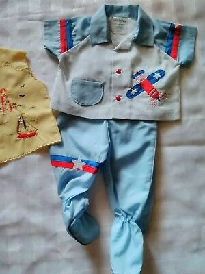 Vintage Baby Boy Clothes Size 0-6m Sasson Brothers and Cradle Togs NEW