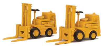 Walthers SceneMaster - Forklift 2-Pack - Assembled -- Yellow - HO