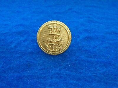 Victorian Royal Navy Officers  23Mm Gilt Button, Firmin & Sons, 153 Strand