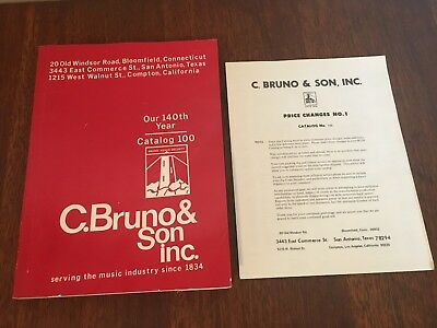 C. Bruno and Sons inc. Musical Instrument Catalog 1974-75