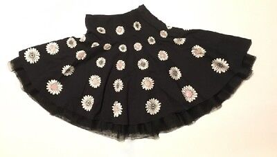 The Childrens Place Circle Skirt Sequins Tulle Crinoline 6/7 Adjustable Waist
