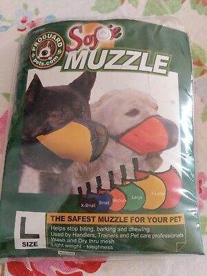 Softie Dog Muzzle Size L Helps Stop Barking Biting And Chewing