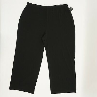 Alfani Plus Size Womens Pull On Stretch Jersey Culotte Crop Pants Black 0X $69