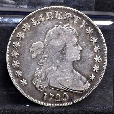 1799 Bust Dollar - 7 x 6 Stars With Berries - VG Details (#18131)