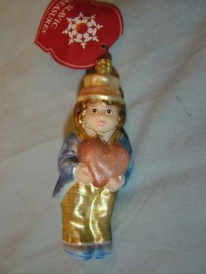 Slavic Treasures For My Love Boy with Heart Glass Ornament OOP