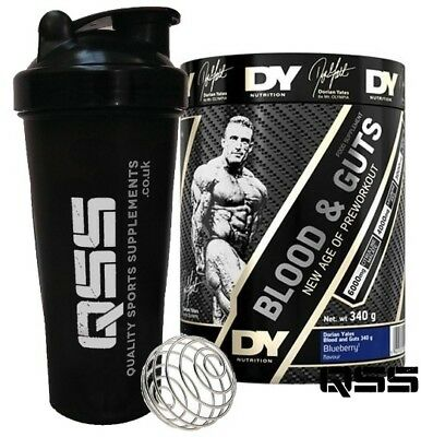 Dorian Yates Dy Nutrition Blood And Guts 340G - Pre Workout Nox Pump Energy + Sh