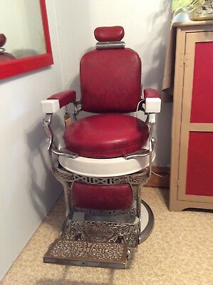 Two Antique Barber Chairs made by Koken