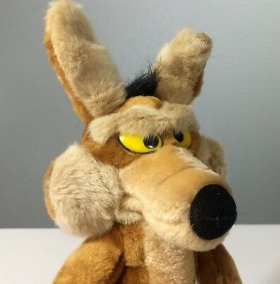 """Wile E Coyote 14"""" 24k Brand Wired Special Effects Plush Doll Posable"""