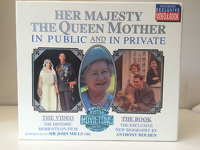 Her Majesty the Queen Mother in Public and in Private VHS video and book      JP