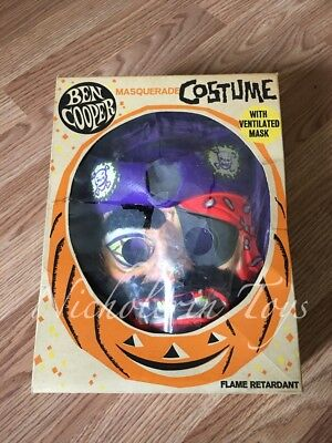 Vintage 1960's BEN COOPER Halloween Costume Pirate -Free Shipping