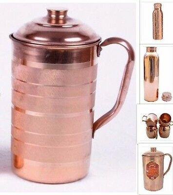 100% Pure Copper Water Jug Pitcher Ayurveda Products