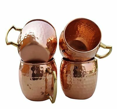 100% Pure Copper Hand Hammered Moscow Mule Mugs / Cups Mugs