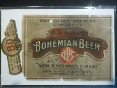 Pre Prohibition Providence Brewing  Bohemian Beer Label Providence Rhode Island