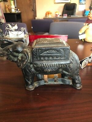 Antique Elephant Cigarette Roller - Cigarette Dispenser,1B,cast Iron Elephant