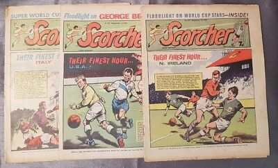 Vintage Scorcher Football Comic X3 1970