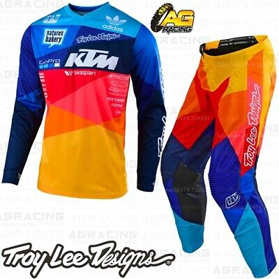 Troy Lee Designs 2019 GP Air Jet Team Navy Orange KTM Race Jersey Pant Combo Kit