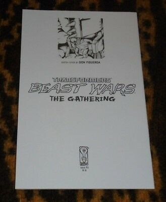 RARE Transformers Beast Wars The Gathering 3 Figueroa Sketch RI B Incentive