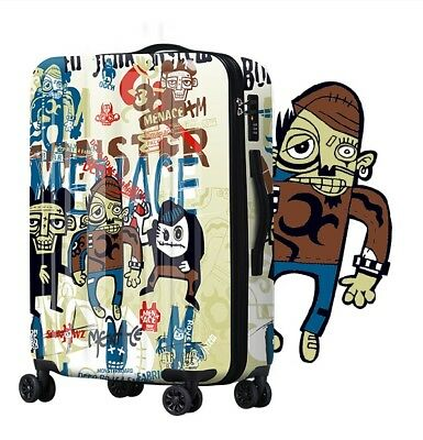 D271 Hip-Hop Style Universal Wheel ABS+PC Travel Suitcase Luggage 20 Inches W