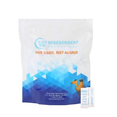 Wisemini Tyvek Packed Silica Gel Desiccant Sachets- FDA Approved (500pcs, 0.50g)