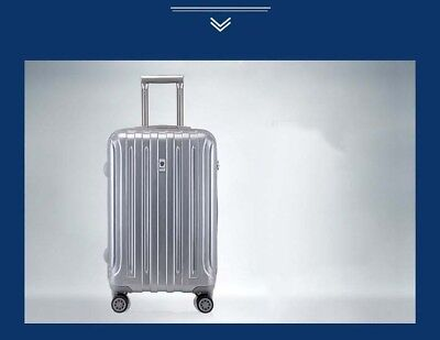 D923 Silver Lock Universal Wheel ABS+PC Travel Suitcase Luggage 20 Inches W