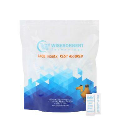 Wisemini Tyvek Packed Silica Gel Desiccant Sachets- FDA Approved (300pcs, 1g)