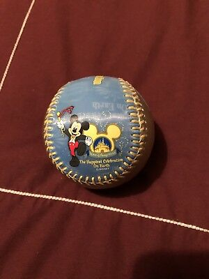Collectible Baseball Walt Disney World Happiest Celebration in Display Globe