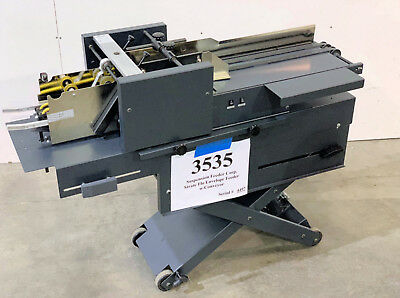 Suspension Universal Envelope Feeder with 5 ft. Delivery Conveyor - Stock #3535