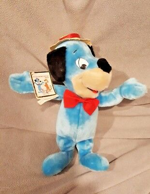 "1985 Hanna Barbera ""Presents"" Hamilton Gifts  HUCKLEBERRY HOUND PLUSH 13"""