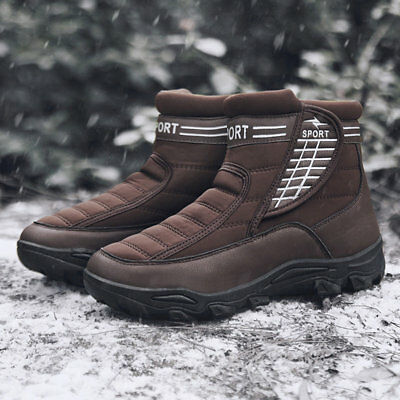 Winter Mens Ankle Snow Boots Outdoor Climbing Shoes Work Warm Booties High Top