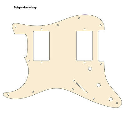 LEFTHAND HH Pickguard Schlagbrett STRAT Standard od. Floyd Rose aged white 3-ply