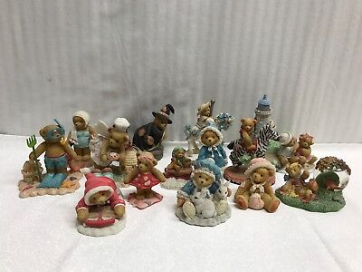 Cherished Teddies lot of 13 Figuring Collectibles