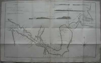 1774 - Large map STRAIT OF MAGELLAN with routes BYRON WALLIS CARTERET