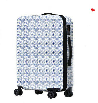 D494 Lock Universal Wheel Vintage Pattern Travel Suitcase Luggage 20 Inches W