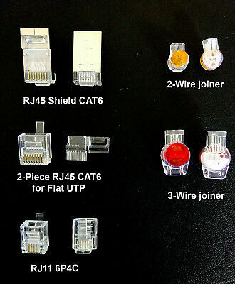 RJ45 CAT6 RJ11 Plugs Telephone cable / wire Joiners