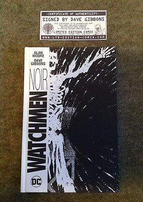 Watchmen Noir Hardback Graphic Novel Signed By Dave Gibbons DC Comics Alan Moore