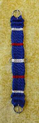 Unicorn Woman's Hand Woven Western Girth Cinch Blue White Red 1/9 Scale