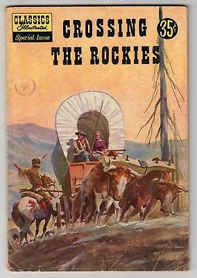 Crossing the Rockies Classics Illustrated Special #147A REED CRANDALL, 1958 Good