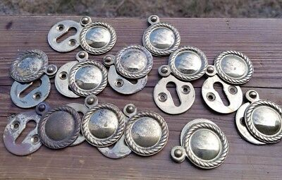 Job lot of Vintage Brass Front Door Rosettes with Covers 12 Pieces