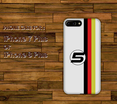 Sebastian Vettel 5 Pattern Style Hard Case Cover for iPhone 7 Plus or 8 Plus