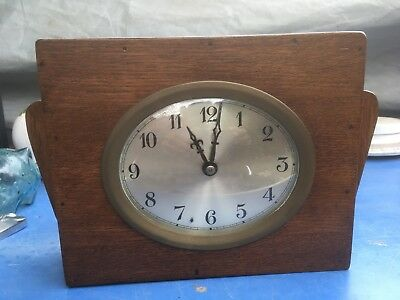 Vintage Art Deco or Art Deco style hand made clock.oval face clock