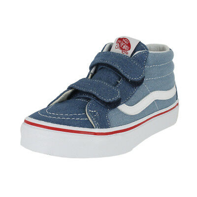 34b8d5e0d2 VANS K SK8 Mid Reissue V Denim 2 Tone Blue True White Kids Us Sizes ...