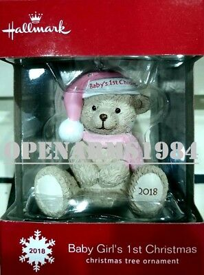 2018 Hallmark 2018 Baby Girl's 1st Christmas Ornament DATED 2018