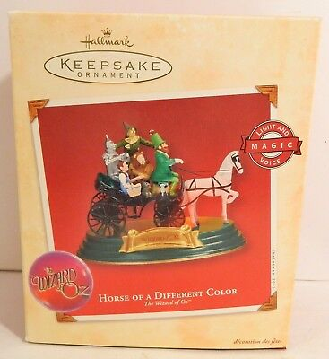 Hallmark Ornament - Wizard Of Oz - Horse Of A Different Color Ornament - 2002