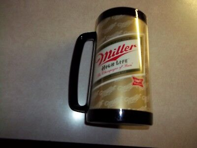 Vintage MILLER BEER Plastic Insulated  Mug Thermo-Serv Cup Lightly Used Bar