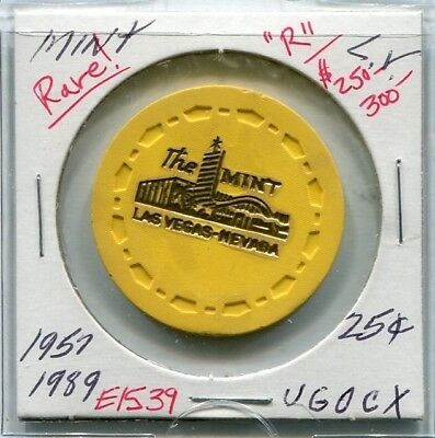 """$$$ RaRe  THE MINT  25c  """" Downtown """"  VEGAS   """" Do You Have? """"  LOW BOOK  $250"""